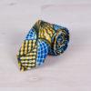 Corbata colorida con motivos geométricos, de tela wax africana