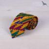 Original corbata infantil de tela africana wax con el motivo geométrico kente